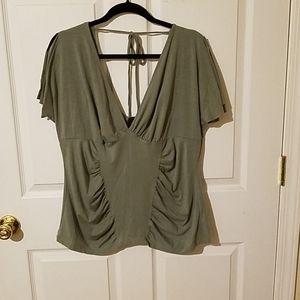 Torrid olive green blouse